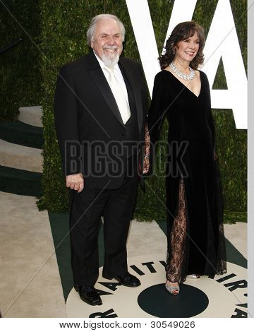 LOS ANGELES - FEB 26:  George Schlatter arrives at the 2012 Vanity Fair Oscar Party  at the Sunset Tower on February 26, 2012 in West Hollywood, CA