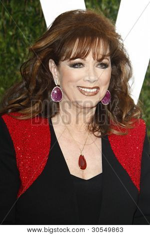 LOS ANGELES - FEB 26:  Jackie Collins arrives at the 2012 Vanity Fair Oscar Party  at the Sunset Tower on February 26, 2012 in West Hollywood, CA