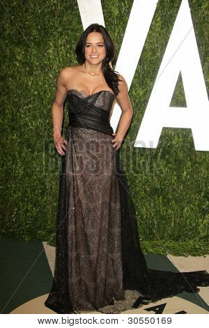LOS ANGELES - FEB 26:  Michelle Rodriguez arrives at the 2012 Vanity Fair Oscar Party  at the Sunset Tower on February 26, 2012 in West Hollywood, CA