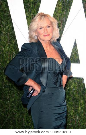 LOS ANGELES - FEB 26:  Glenn Close arrives at the 2012 Vanity Fair Oscar Party  at the Sunset Tower on February 26, 2012 in West Hollywood, CA