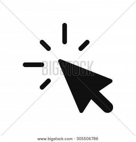Click Icon Isolated On White Background. Click Icon In Trendy Design Style. Click Vector Icon Modern