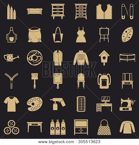 Needlework Icons Set. Simple Set Of 36 Needlework Vector Icons For Web For Any Design