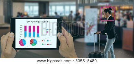Deep Machine Learning Concept, The Store Or Smart Retail Use Artificial Intelligence Technology With
