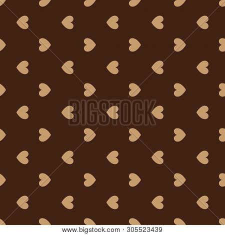 Seamless Pattern Of Hearts. Festive Pattern With Small Hearts. Background From Hearts. Holiday Patte