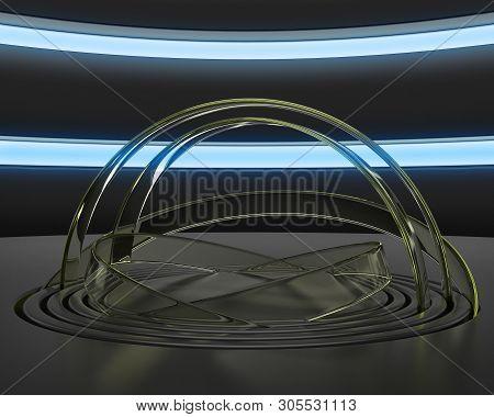 3D model room. 3d render conceptual space. 3d placement image. 3d illustration, 3D render poster