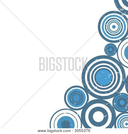 Blue Circles Background Design