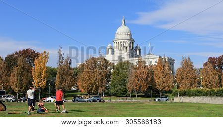 Providence, Rhode Island/united States - October 30: View Of Capital Building In Providence, Rhode I