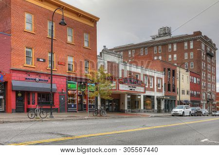 Burlington, Vermont/united States - October 29: A View Of Flynn Theater In Burlington, Vermont, [oct