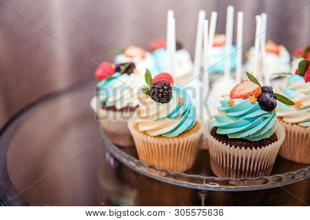 Happy Birthday.holiday Cake With Candles.birthday Greetings.greeting Card.celebrate Birthday Party W