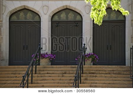 Three Arched Church Doors