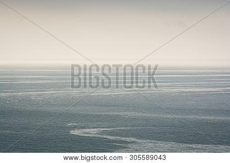 Visible Streams In Black Sea, Trabzon, Turkey
