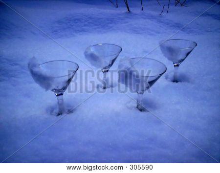 Gin Glasses  Ice Snow