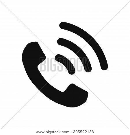 Telephone Icon Isolated On White Background. Telephone Icon In Trendy Design Style. Telephone Vector