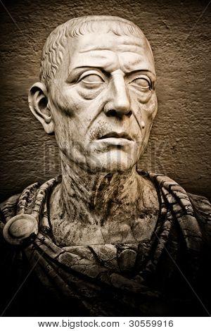 Vintage image of the roman emperor Julius Caesar