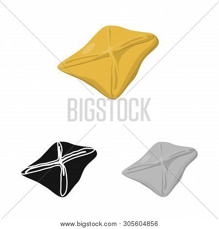 Vector Design Of Manti  And Jiaozi Symbol. Collection Of Manti  And Dough Stock Symbol For Web.