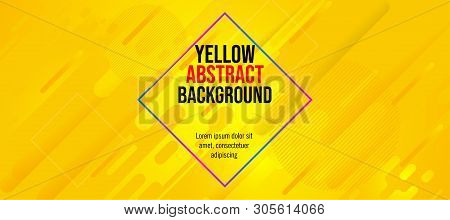 Modern Banner Fun Color Yellow Abstract Background-04