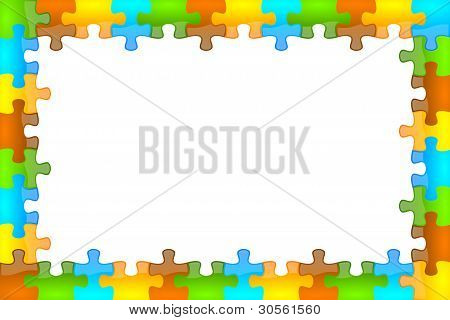 Color and glossy puzzle frame 12 x 8