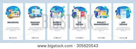 Mobile App Onboarding Screens. Digital Marketing, Branding, Mobile App Ui Design, Project Management