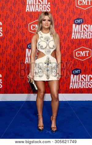 NASHVILLE - JUN 5: Maren Morris attends the 2019 CMT Music Awards at the Bridgestone Arena on June 5, 2019 in Nashville, Tennessee.