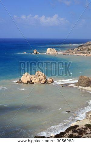 Cyprus  Aphrodites Rock & Coastline