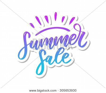 Vector Word Sale .letters Made Of Flowers And Leaves Summer Sale Holiday Flyer Banner Poster Summer