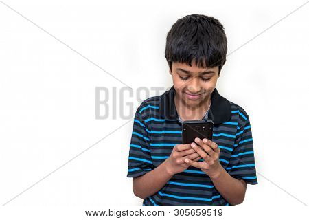 kid addicted to his cell phone