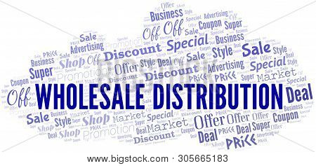 Wholesale Distribution Word Cloud. Wordcloud Made With Text.