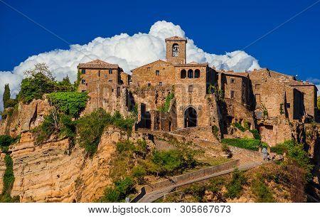 "Civita Di Bagnoregio, Italy - May 3: Visiting Civita Di Bagnoregio ""the Town That Is Dying"", A Beaut"