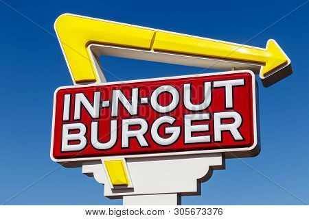 Las Vegas - Circa June 2019: In-n-out Burger Fast Food Location. In-n-out Is Incredibly Popular In T