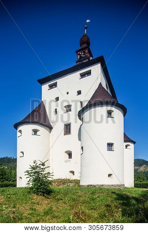 Banska Stiavnica, Slovakia - August 06, 2015: New Castle  - Built In 1571 Building - Called Also Fra