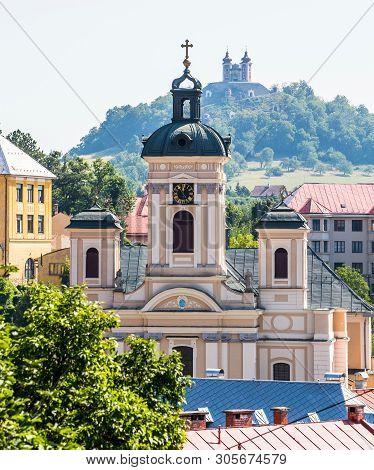 Banska Stiavnica, Slovakia - August 06, 2015: Parish Church Of The Assumption In Banska Stiavnica, S