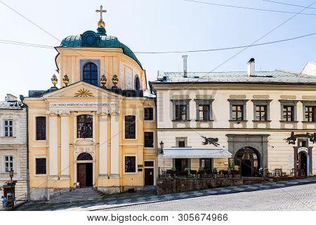 Banska Stiavnica, Slovakia - August 06, 2015: Evangelical Church In Banska Stiavnica, Slovakia. Unes