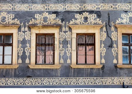 Banska Bystrica, Slovakia - August 07, 2015: Detail Of Decorative Parts Of The Houses In Banska Stia
