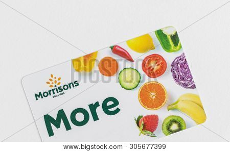 London, Uk - 26h May 2019 - Morrisons More Card - Customer Loyalty Card. Morrisons Is The Fourth Lar