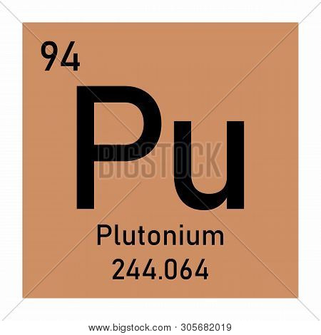Illustration Of The Periodic Table Plutonium Chemical Symbol
