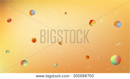 Breezy Space Fantasy. Creative Colorific Illustration.  Background Texture, Modern. Gold Colored.  B