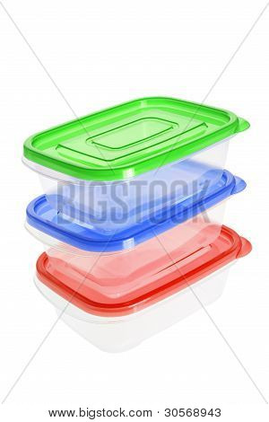 Stack Of Plastic Containers