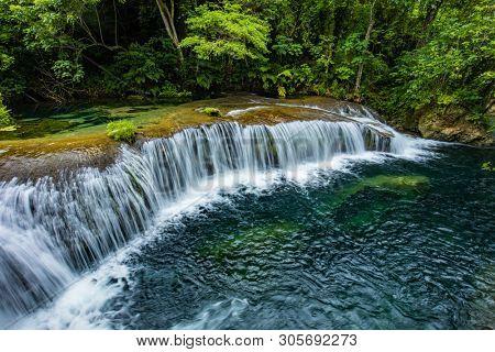 Rarru Rentapao Cascades, Waterfall and the River, Teouma village, Efate Island, Vanuatu, near Port Vila