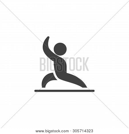 Man Yoga, Position Vector Icon. Filled Flat Sign For Mobile Concept And Web Design. Man Practice Exe