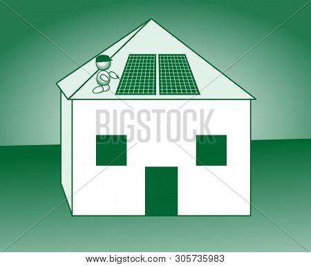 Photovoltaic System House Zero Energy Roof Renovation