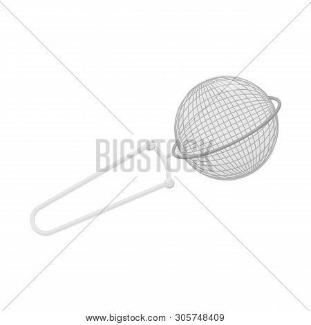 Isolated Object Of Strainer And Tea  Sign. Collection Of Strainer And Tool  Stock Vector Illustratio