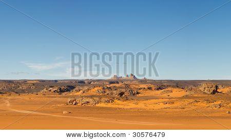 Akakus Mountains Scenery, Sahara, Libya