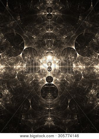 Infinite Unfolding Circles In A Complex Fractal Pattern.