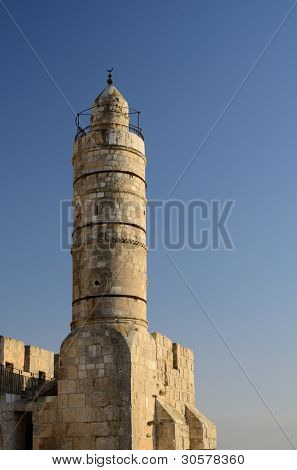 Dating from 2nd Century BCE, the Tower of David is so named because Byzantine Christians believed the site to be the palace of King David. The current structure dates from the 1600's.