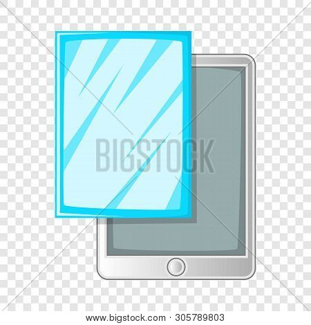Screen protector film for tablet icon. Cartoon illustration of screen protector film for tablet vector icon for web design poster