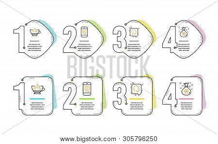 Head, Message And Espresso Cream Icons Simple Set. Santa Sack Sign. Profile Messages, Phone Messenge