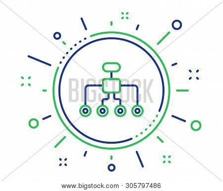 Restructuring Line Icon. Business Architecture Sign. Delegate Symbol. Quality Design Elements. Techn