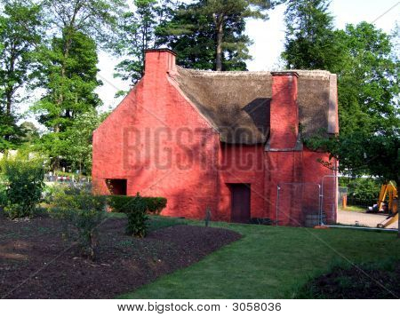 Unique Red Walled Farmhouse