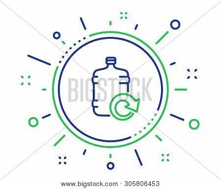 Water Cooler Bottle Line Icon. Refill Aqua Drink Sign. Liquid Symbol. Quality Design Elements. Techn