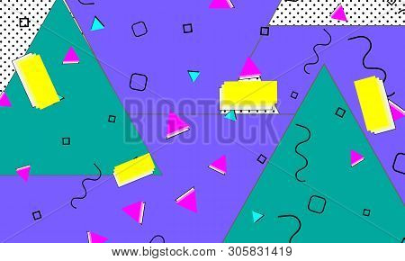 90s Christmas Background.90s Pattern Memphis Vector Photo Free Trial Bigstock